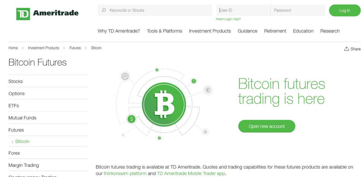 can you trade crypto on td ameritrade