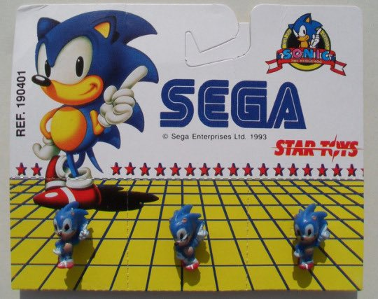 A set of Sonic pins by Star Toys in 1993. <br>http://pic.twitter.com/tsETXpKvuj
