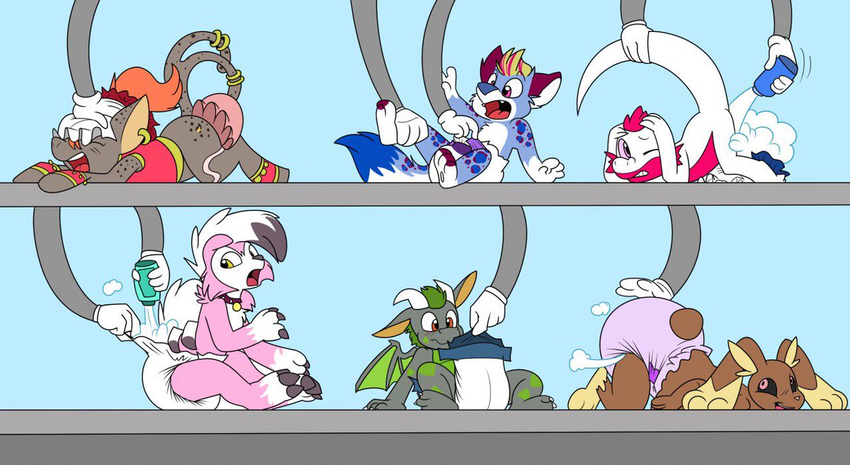 There seems to be some new daycares trying out the newest tech by putting some of the cubs in them and see how they run. It seems to be going good so far X3  Line done by Tato and coloring done by Rogeykun which cane be found  https://www. furaffinity.net/view/32027930/    <br>http://pic.twitter.com/tc7Ix45bEn