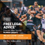 Image for the Tweet beginning: Our major sponsor @BrydensLawyers are