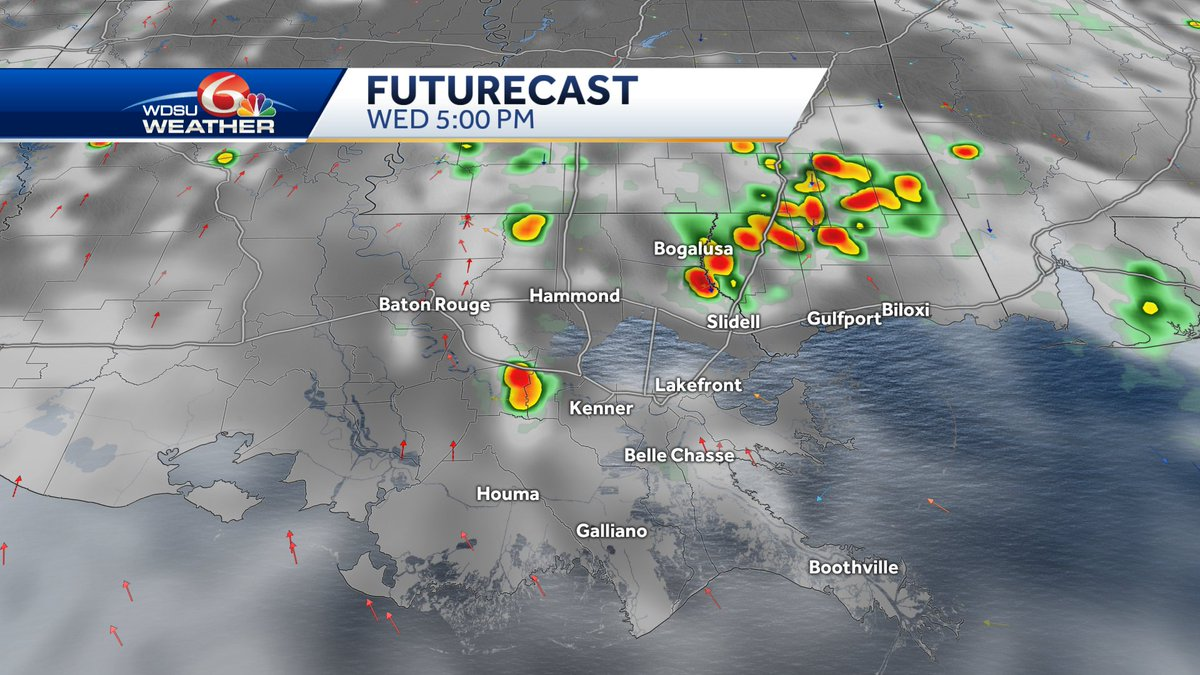 Few storms will pop in the afternoon, but mainly hot weather