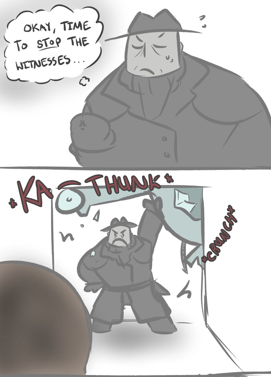 A quick comic about RE2 Speedrun tech, and poor Mr.X  Inspired by @Bawkbasoup 's run tonight!  #Fanart #SGDQ2019<br>http://pic.twitter.com/t8OVP3hCnb