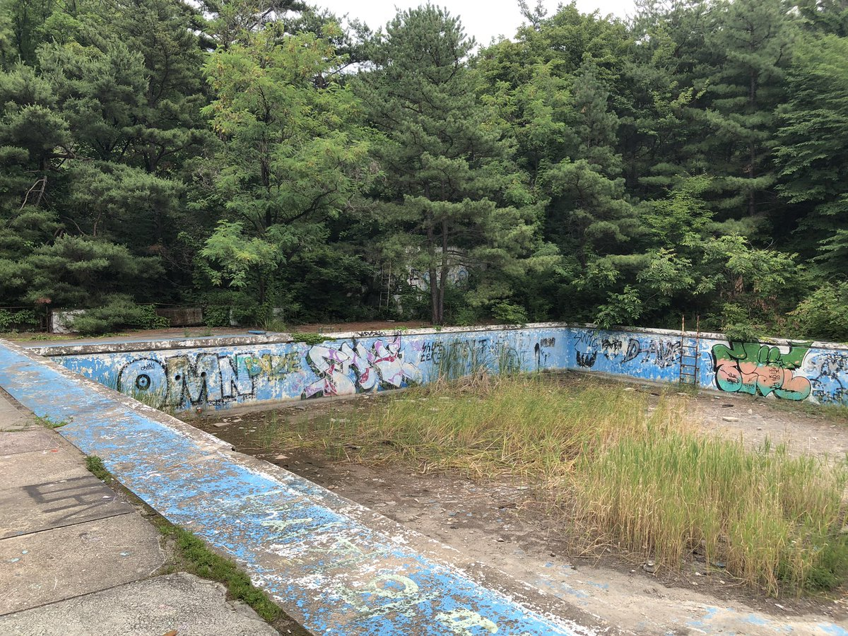 Marty Jin Day On Twitter Im At The Abandoned Swimming Pool From The Hyyh Prologue Video It S So Pretty There S Butterflies And Moths Flying Everywhere Too It S So Magical Https T Co Lm1djr5jcl