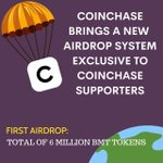 Image for the Tweet beginning: ‼️Coinchase's first #Airdrop plan BMT