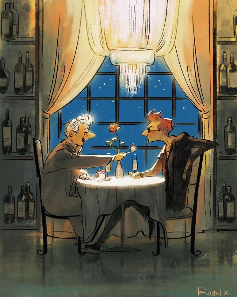 #GoodOmens Dinner date at Ritz 💕💕💕