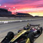 I love my job. Great test at Iowa Speedway today. Not a bad sunset either #NoFilter #ME7 #INDYCAR