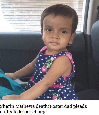 #Wesley #Mathews, the #adoptive father of three-year-old #Indian girl #Sherin #Mathews who was found #dead in a #ditch in the #US #state of #Texas in 2017, has #pleaded #guilty to a #lesser #charge, the #media reported. #indicanews https://indicanews.com/2019/06/25/sherin-mathews-death-foster-dad-pleads-guilty-to-lesser-charge/…
