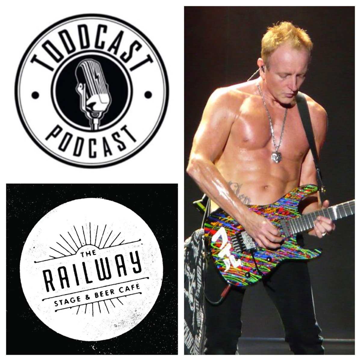 Did you catch #DefLeppard lead guitarist Phil Collen visit to the #podcast? #Flashback to Ep.15! Tag a friend who loves the band. http://ow.ly/49Lb30oUZ2V  * @railwaySBC powers musical guest visits!