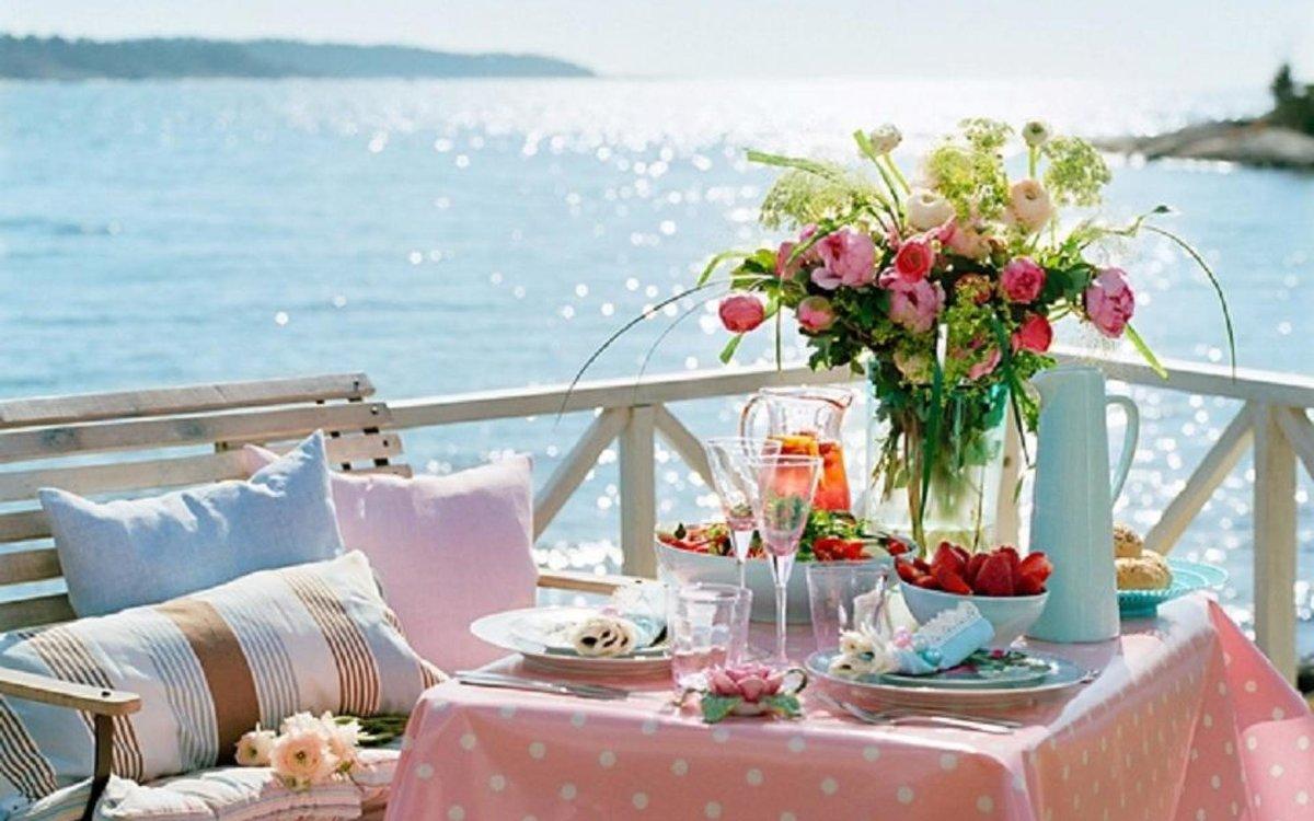 Днем, доброе утро романтичные картинки у моря