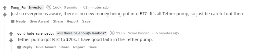 """Feels like I went back to 2017.  """"It's all Tether pump""""<br>http://pic.twitter.com/fuxHEXt2EZ"""