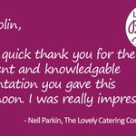 It's always rewarding to have nice feedback, this time from the wonderful director of The Lovely Catering Company, Neil Parkin. Thank you for coming down to our demonstration yesterday Neil, it was lovely to meet you!  #Feedback #Catering #CommercialKitchens #Smokers #Kitchens