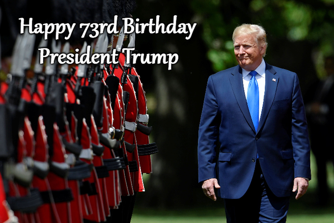 Happy 73rd Birthday to President Donald Trump!