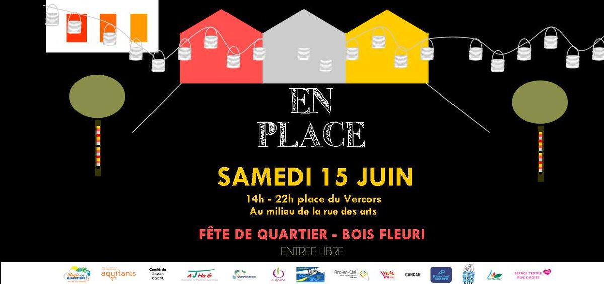 La #fête du quartier #Boisfleuri, c'est maintenant ! Rendez-vous place du Vercors (milieu de la rue des arts) >> facebook.com/events/3326781… #lormont #Enplace #animation #quartier #famille #gironde #enfants #ruedesarts https://t.co/k19IGZfrCP