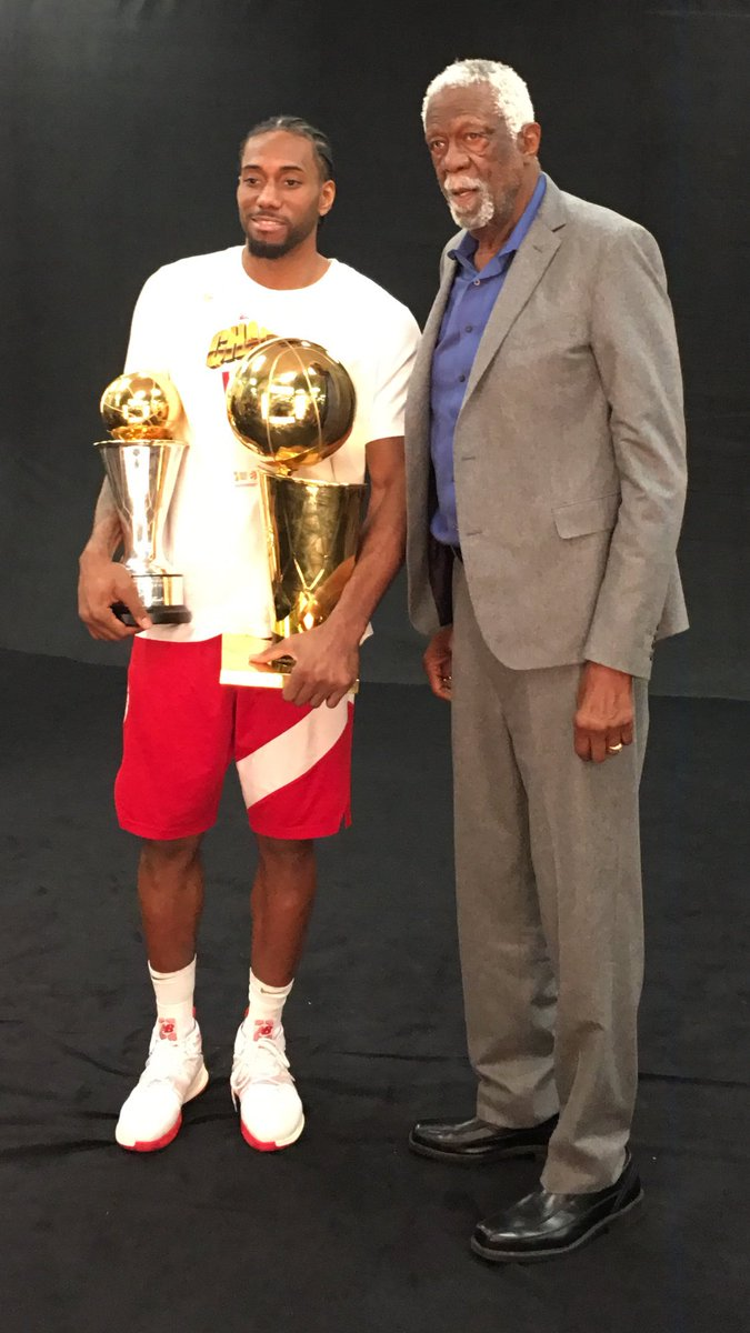 Congratulations #KawhiLeonard on winning the Bill Russell #MVP award it was well deserved  @kawhileonard #WeTheNorrh  @Raptors @NBA #NBAFinals