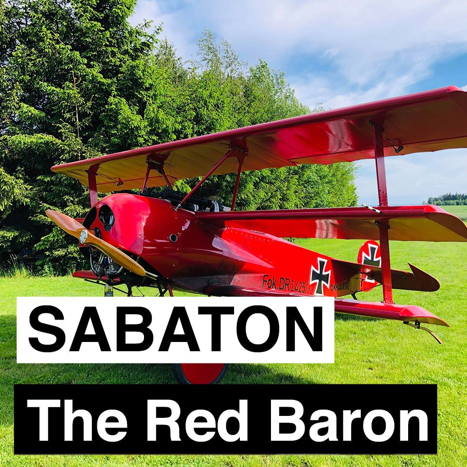 The Red Baron is out today, and here is the official lyric video for the song:  https:// youtu.be/3PXzgXBRM_k     #ww1 #TheGreatWar #TheRedBaron #NewSong #LyricVideo<br>http://pic.twitter.com/rX3GLg998l