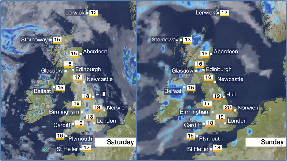 Not promising completely dry and sunny weather over the weekend but hoping we can all at least accept 'better' than the week just gone? Here's your weekend planner... #FridayFeeling