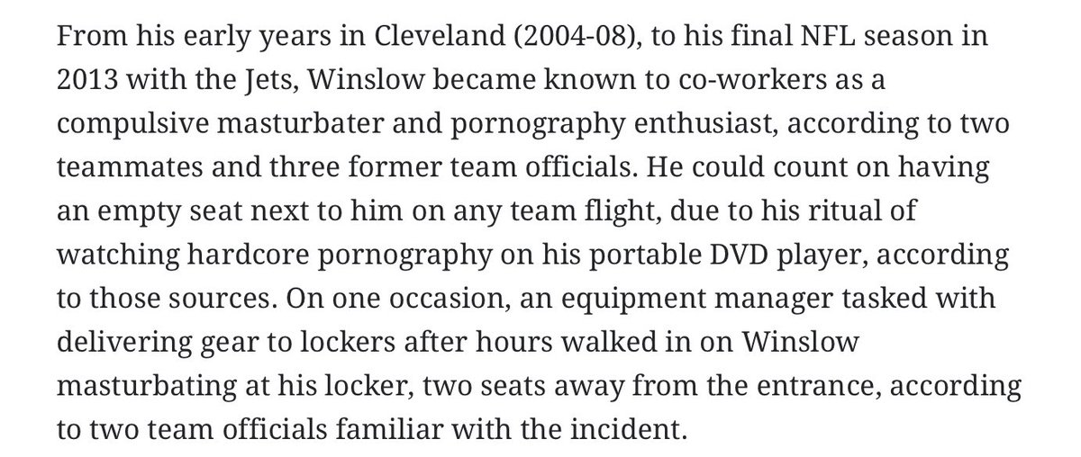 I know I joke about being addicted to porn but Kellen Winslow Jr was going HAM https://t.co/ZefkGvLKnW