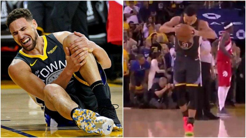 【影片】湯普森受傷倒地,Curry將籃球重重砸向地板,命運似乎又和勇士開了一个玩笑!