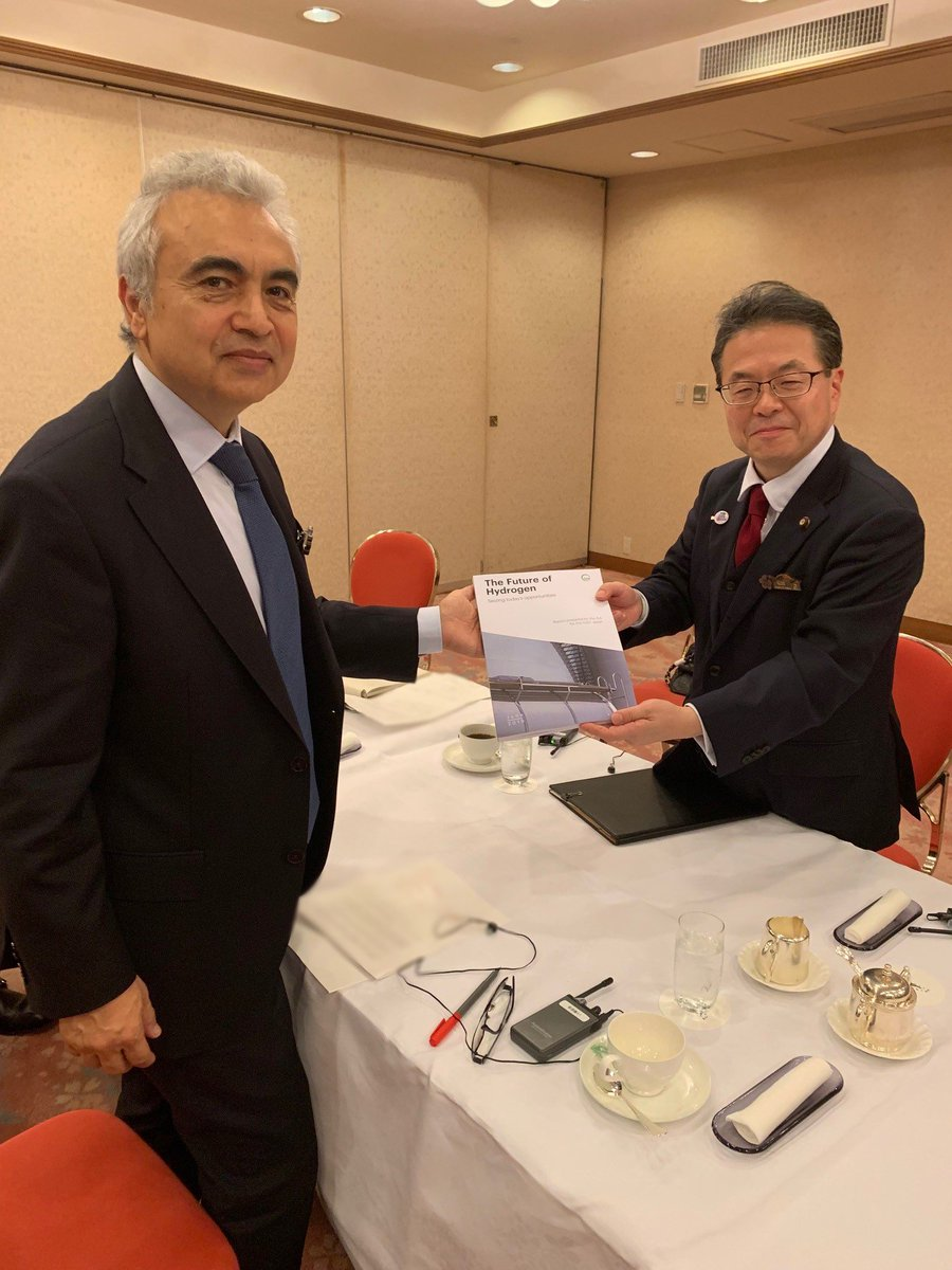 Honoured to meet with @SekoHiroshige, Japan's Minister of Economy, Trade & Industry, to discuss @IEA's work to support Japan's #G20 Presidency, including our new report on The Future of #Hydrogen