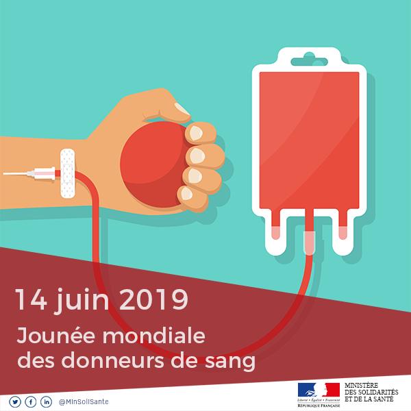 Aujourd'hui, c'est la journée mondiale des donneurs de sang (#JMDS).L' @EFS_dondesang a besoin de vos dons💉 au quotidien. ↪ Il vous suffit d'une heure pour sauver 3 vies, #PartagezVotrePouvoir !➡ Trouvez la collecte la plus proche : ow.ly/CGJR50tVOTX https://t.co/bjJ2xAbnIr