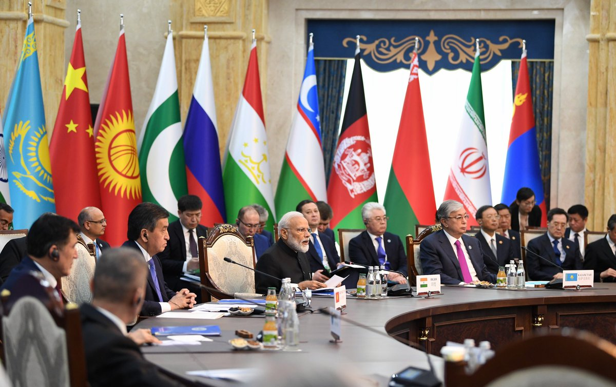 Participated in the proceedings of the SCO Summit in Bishkek. India has been making notable contributions in various SCO activities. During my remarks, elaborated on how good HEALTH will further strengthen the SCO. http://nm-4.com/8up8