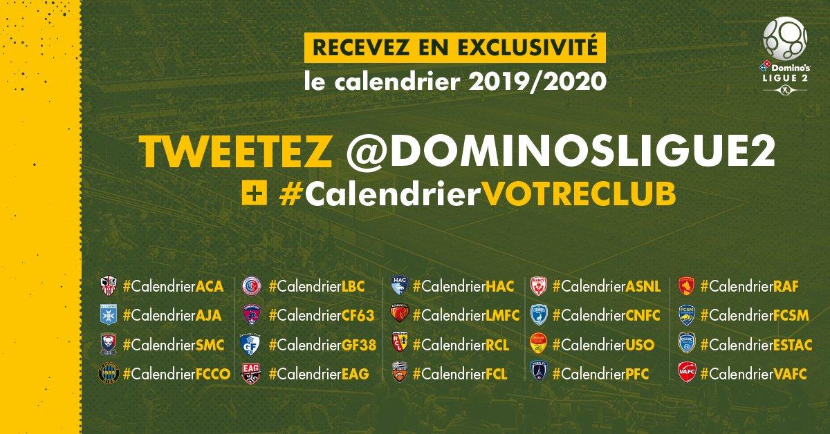 Calendrier 2020 Ligue 2.Domino S Ligue 2 On Twitter Le Calendrier 2019 2020 Est