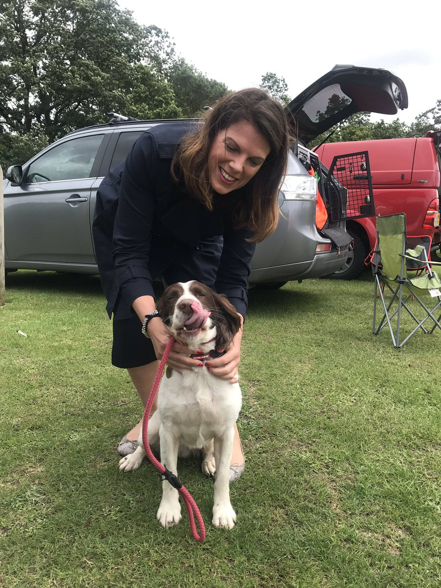 .@HANTSAR are holding an open day at Netley today - fascinating chance to hear about all their kit and activities + I got to meet Milo the search dog