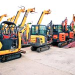 Image for the Tweet beginning: Even the diggers are queuing
