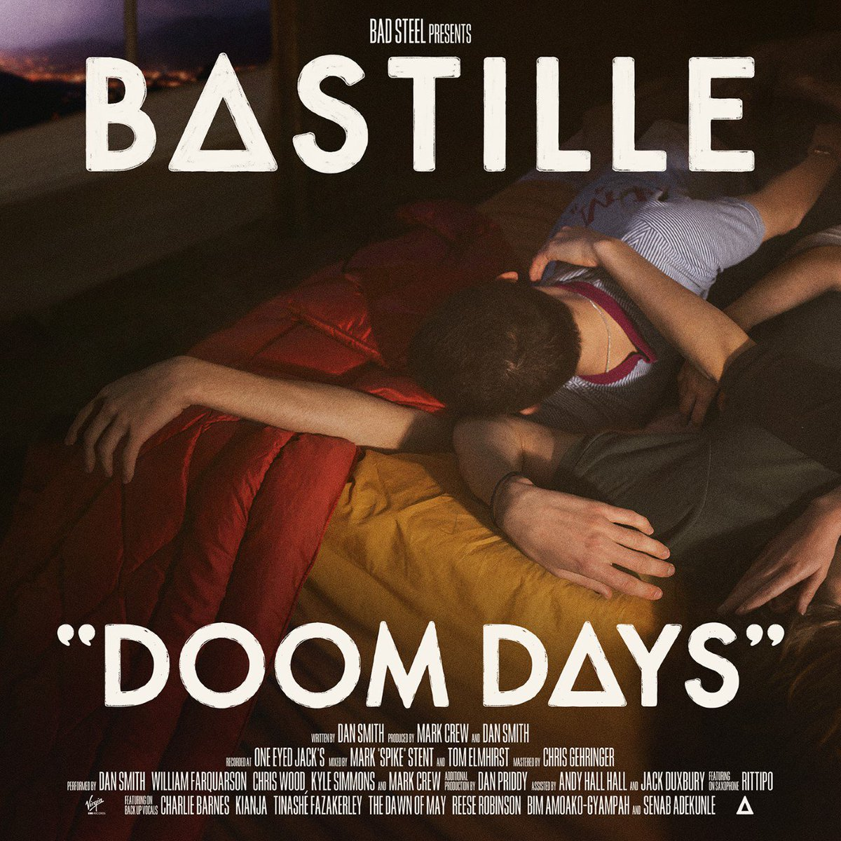"""Our third album """"Doom Days"""" is officially out, now! We really hope you love it as much as we've loved making it.  Listen/buy: http://bastille.lnk.to/DoomDaysAlbumVTW…  #DoomDays"""