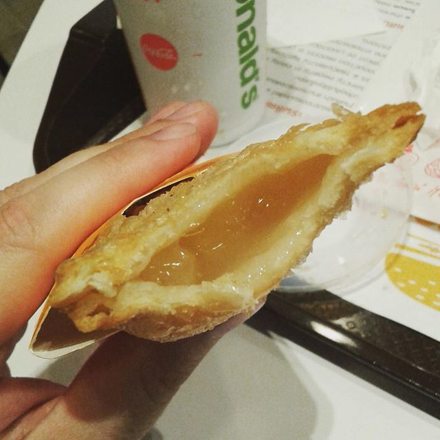 Tried the #McDonalds #PineapplePie in #Thailand, surprisingly good. #dessert #travel