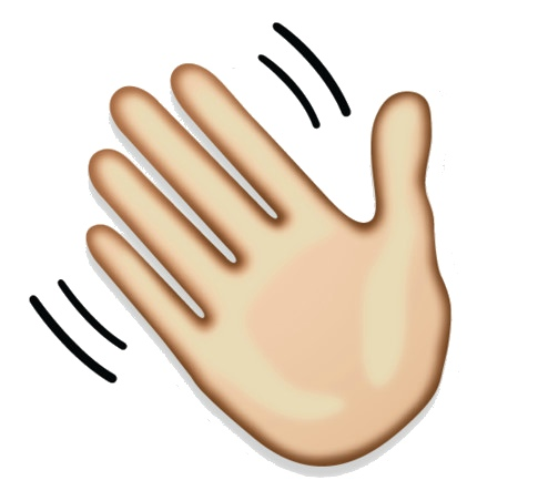 hand waving clipart - 900×640