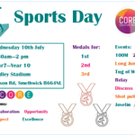 Image for the Tweet beginning: Sports Day Wednesday 10th July
