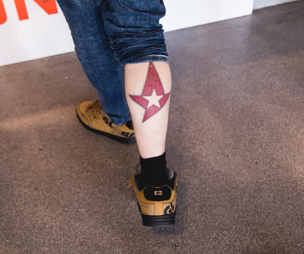 When your Astralis stickers come to life 🔥  #TheSixthMan is always with us. Show us your best esports tattoos!  #ToTheCalfs #ToTheStars ✨