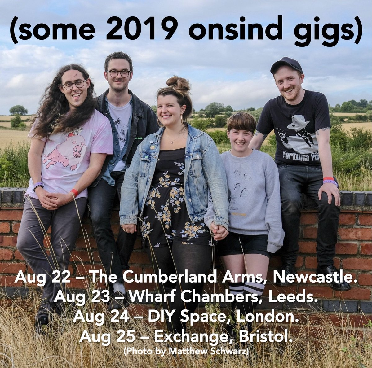 Were playing some gigs in August. Will you consider coming to one of them? Thats the purpose of this tweet essentially. To ask you that. Please consider it.