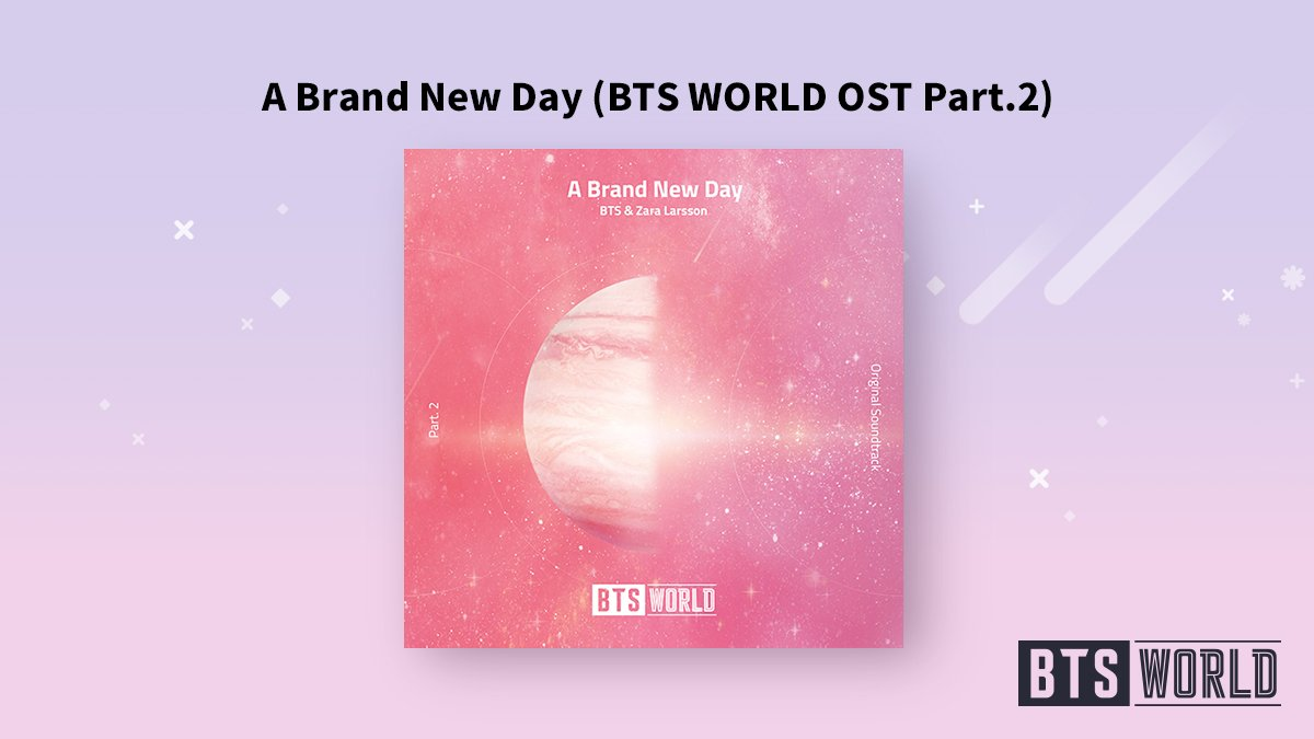 [#BTSWORLD_OST] 매니저님! BTS월드 OST Part.2가 나왔어요! A Brand New Day (BTS WORLD OST Part.2) by 방탄소년단 & Zara Larsson 지금 확인하러 가볼까요?! ▶btsw.netmarble.com/ost #방탄소년단 #BTS #Zara_Larsson #A_Brand_New_Day #BTSWORLD #BTS월드