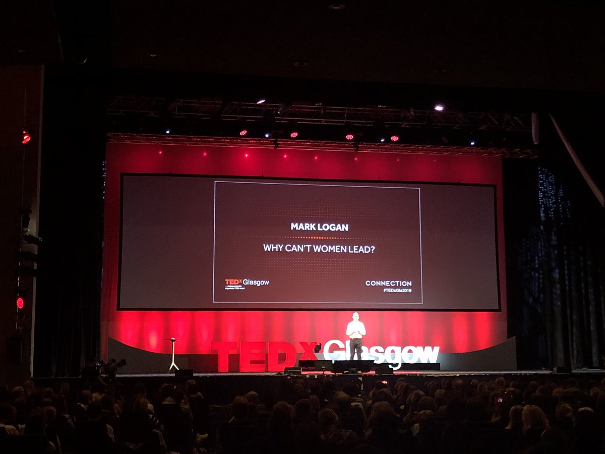 """You can hear a pin drop at #TEDxGla2019 as @Mark_Logan1 says """"We are so comfortable with women in the leadership role in a maternal sense but still so uncomfortable with it in a business sense, even though the skills are exactly the same"""". <br>http://pic.twitter.com/mLi2nGJe0c"""