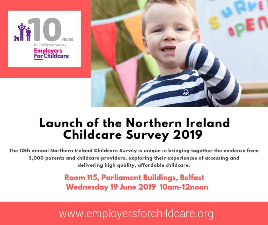 Thanks to all the parents & childcare providers who participated in our annual childcare research - we launch the 2019 report next week & it's the evidence you provide that gives us the base to campaign for better investment in our vital childcare sector #NIChildcareSurvey