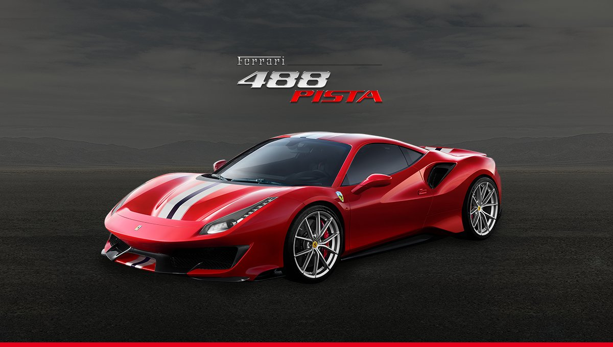 the 288GTO re-incarnated... the 488Pista.. again as the most beautiful machine on earth..
