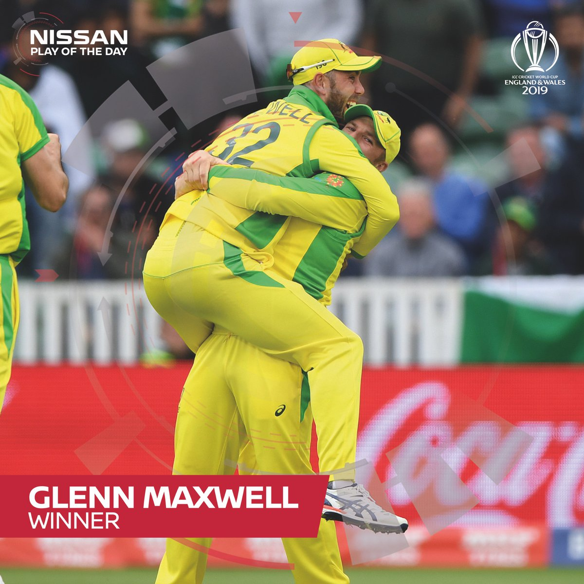 Check out the latest winner for Player of The Day:Glenn Maxwell's excellent run-out to finish yesterday's game against Pakistan is just astonishing!#CWC19