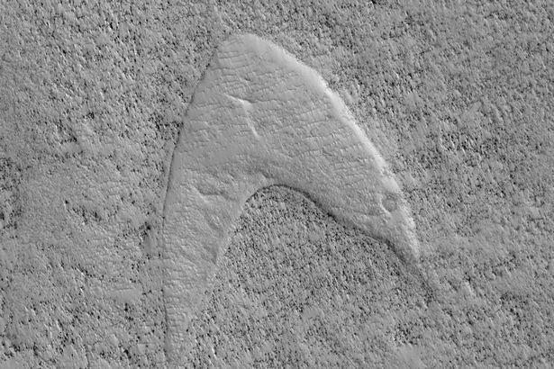 Star Trek Starfleet logo spotted on MARS - scientists explain how it got there