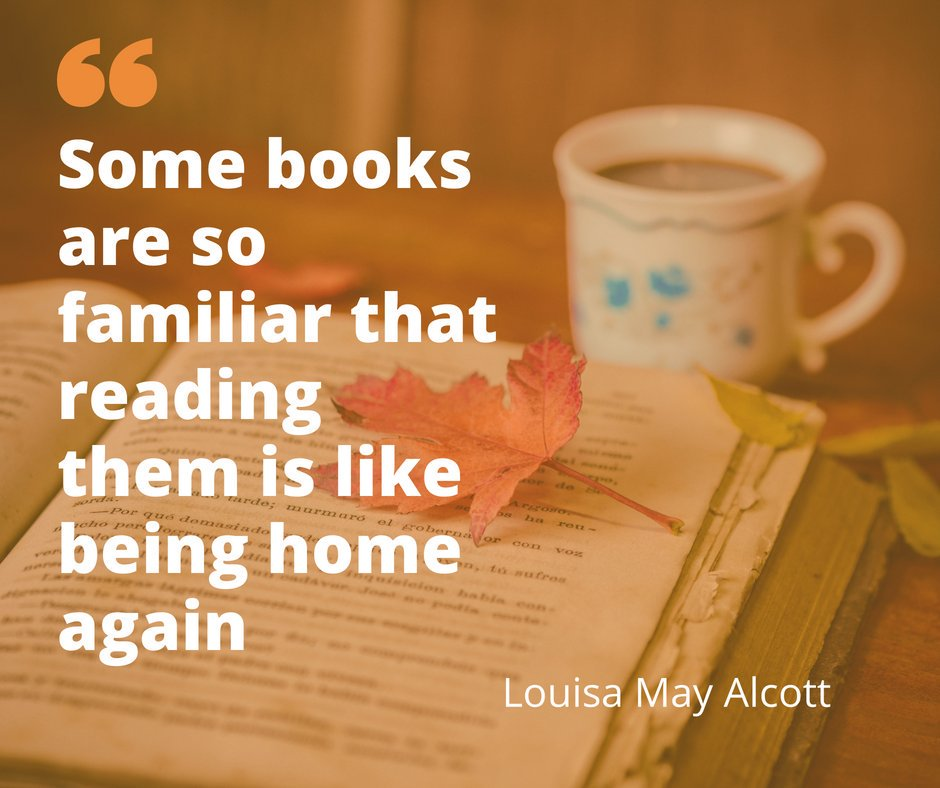 We're enjoying the familiar feeling of getting lost in a book for #fridayreads this week. What books make you feel at home when you're reading them?  #booklover #literaryquotes #bookquotes #books #bookaddict<br>http://pic.twitter.com/dHu6RVXEba