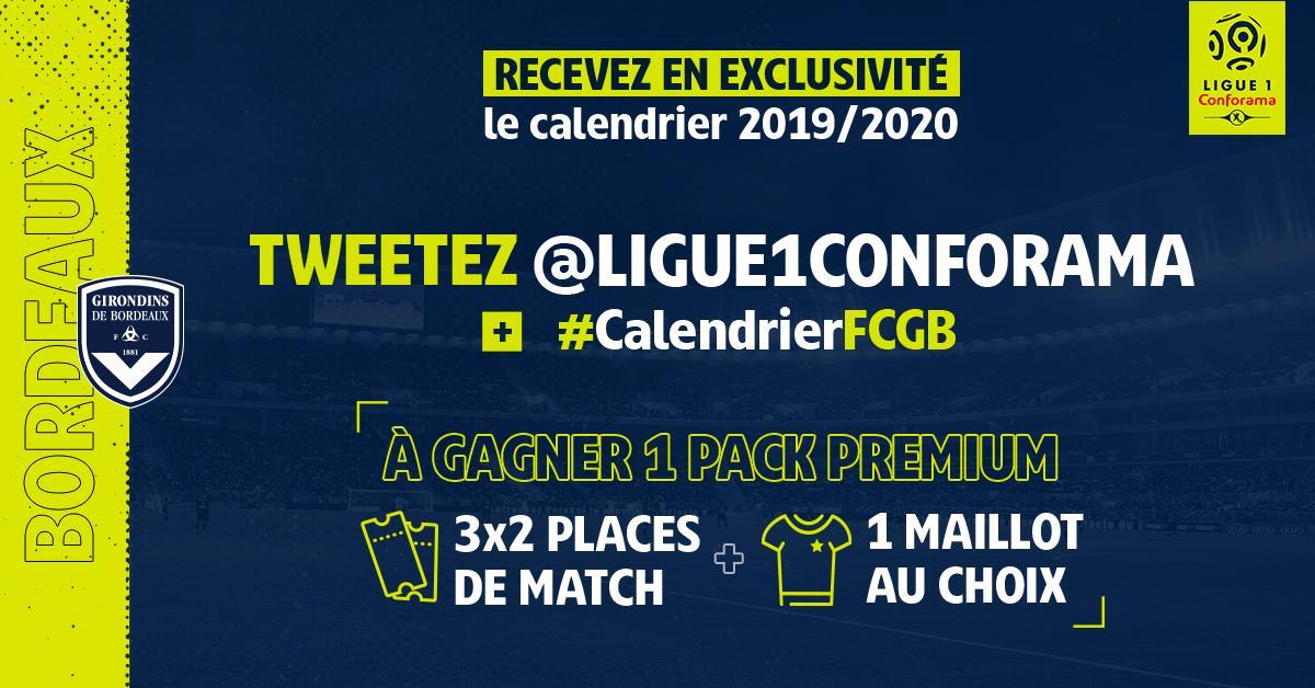 Calendrier Bordeaux Ligue 1.Fc Girondins De Bordeaux V Twitter Le Calendrier 2019