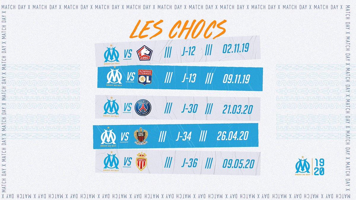 Calendrier Des Matchs De Lom.Olympique De Marseille On Twitter Les Chocs De Cette
