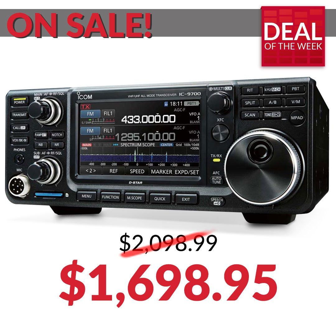 Deal of the Week: Get the ICOM IC-9700 for Tweet added by DX