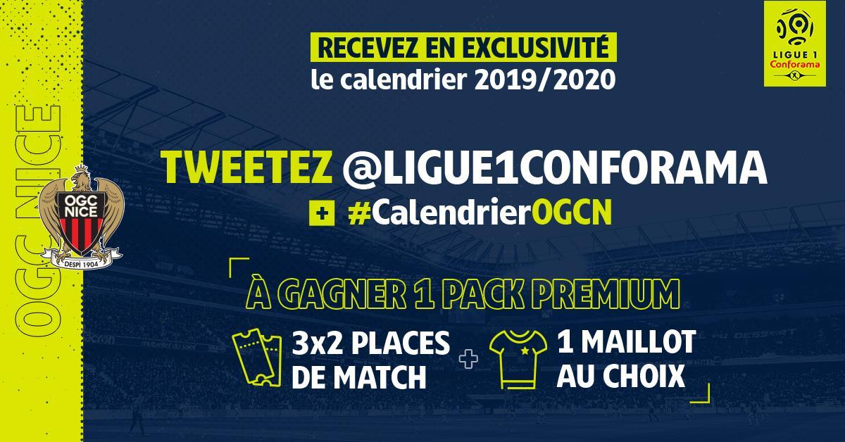 Calendrier Ligue 1 Nice.Ogc Nice On Twitter La Ligue1conforama Vous Fait Gagner 1