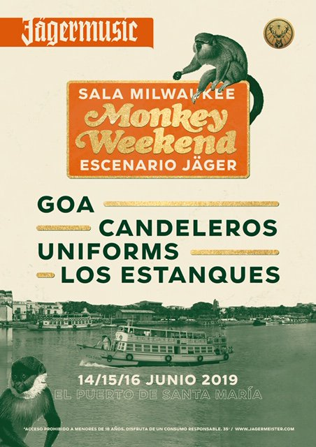 🐻 ¡¡Estamos de cumple (¡felicidades Natalia Spingel!) y además tenemos planazo para el finde con @UniformsMusic mañana sábado en el #MonkeyWeekend!! @Monkeyweek  @Jagermeister_es #Polara #Live #FelizFinde 😘