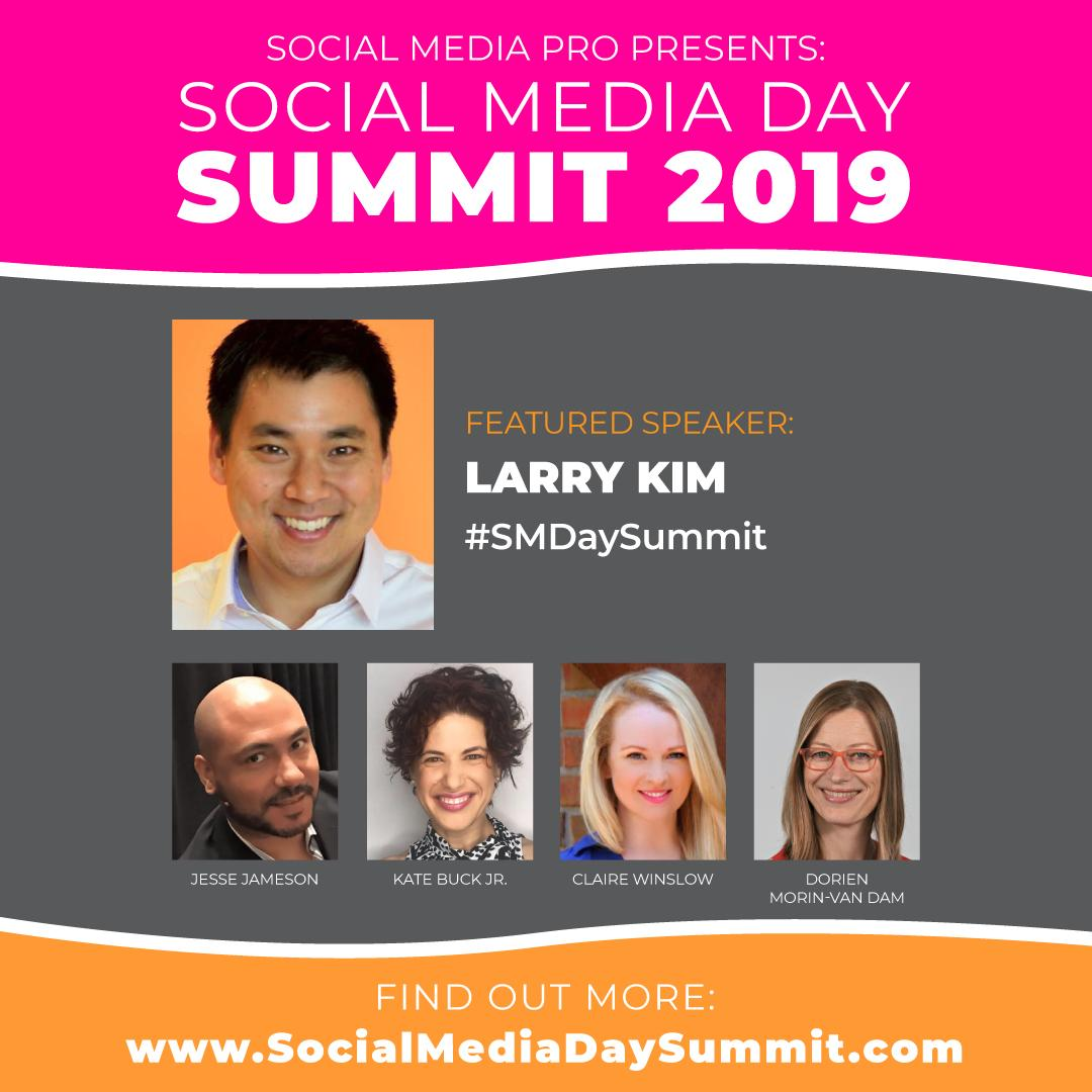 """Im excited to speak at Social Media Day Summit 2019. Join me online for #SMDaySummit to connect, learn and celebrate #SMDay 2019"""" ow.ly/moLF30oWpcA"""