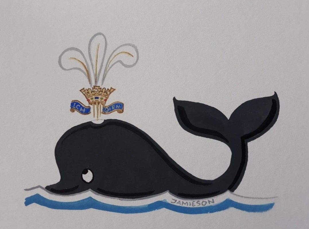 My dad doodled a 'Prince of Whales' yesterday and I'm dead    http:// andrewstewartjamieson.com      #PrinceofWhales <br>http://pic.twitter.com/QwKPtEn7pE