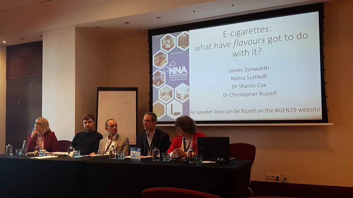 NNA flavours briefing at #GFN  Dr Sharon Cox: policy environment needs to allow appealing flavours