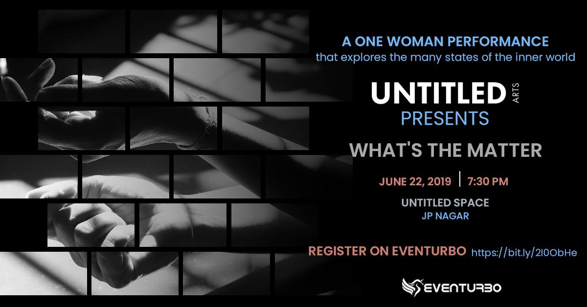 Join Anitha Santhanam to explore unknown states of the textured world through movement and music. 'What's The Matter' is a must-see solo performance scheduled on 22nd June. Register here - https://buff.ly/2KkYDLN   #UntitledArts #WhatsTheMatter #AnithaSanthanam #Eventurbopic.twitter.com/OThynyj6R4